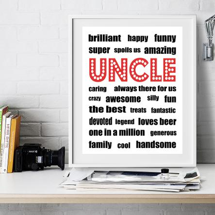 Personalised Uncle Print
